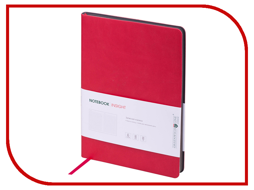 Ежедневник Greenwich Line А5 Insight Red Grey NA5CR-11209 greenwich line дневник школьный mercury цвет красный