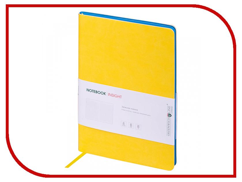 Ежедневник Greenwich Line А5 Insight Yellow Blue NA5CR-11213 greenwich line дневник школьный mercury цвет красный