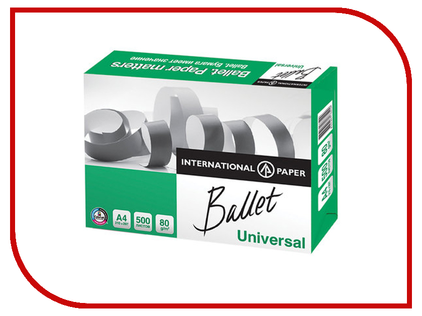 Бумага Ballet Universal A4 ColorLok 80г/м2 500 листов CIE146