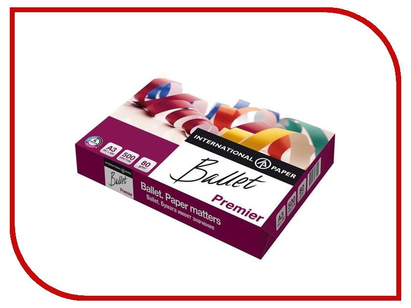 Бумага Ballet Premier A3 ColorLok 80г/м2 500 листов CIE161 бумага staff a5 класс c 80г м2 500 листов 110446