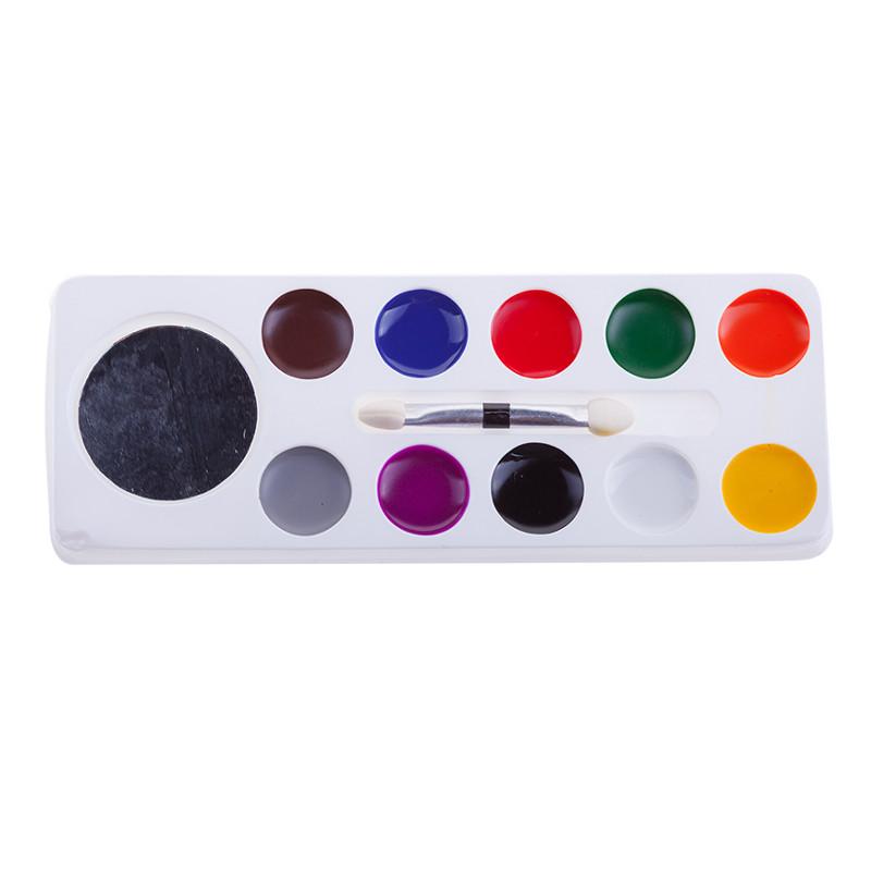Краски для грима Фабрика Фантазий 10 цветов 57903/800-41264 пирамидка фабрика фантазий клоун