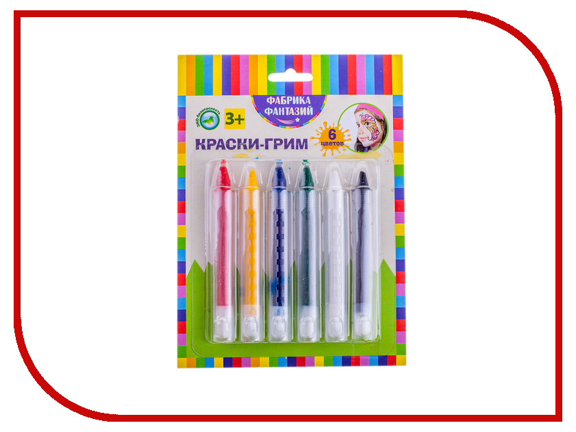 Карандаши для грима Фабрика Фантазий 6 цветов 800-41767/57905 цена