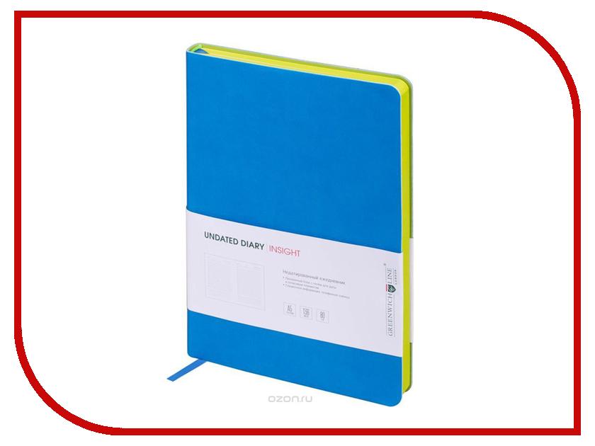 Ежедневник Greenwich Line A5 Insight Blue Lime Green ENA5CR-11177 greenwich line дневник школьный mercury цвет красный