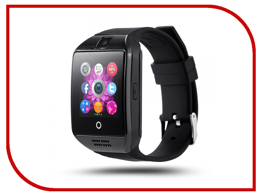 Умные часы Smart Watch Q18 Black smart baby watch g72 умные детские часы с gps оранжевые