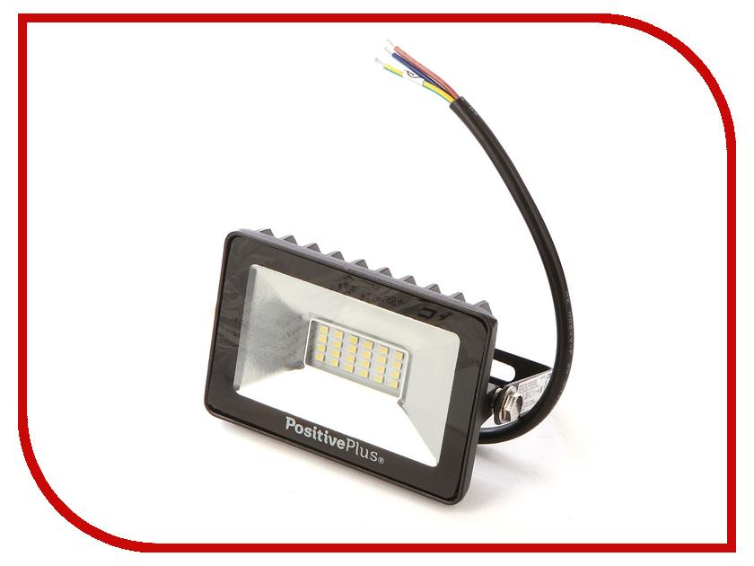 Прожектор Positive Plus PP0401-0002 20W 220V 6500K SMD IP65 Black