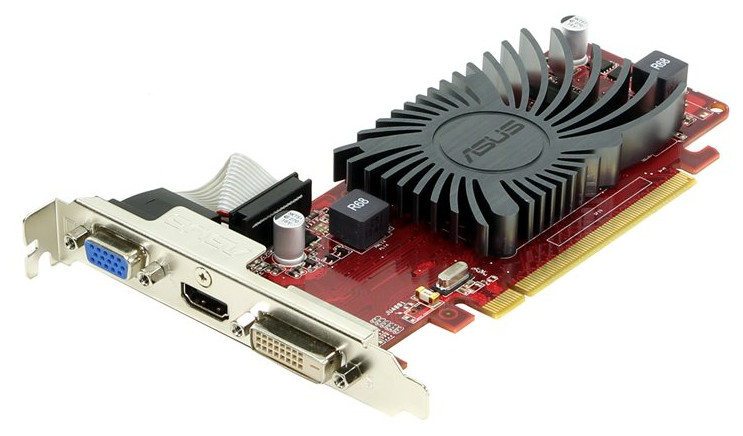 Видеокарта ASUS Radeon R5 230 625MHz PCI-E 2.1 1024Mb 600MHz 64 bit DVI HDMI HDCP R5230-SL-1GD3-L aeg l 574270 sl