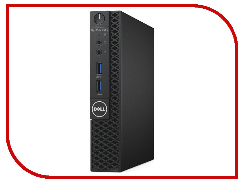 Компьютеры 3050 Micro  Настольный компьютер Dell Optiplex 3050 Micro 3050-2530 (Intel Core i3-6100T 3.2 GHz/4096Mb/500Gb/DVD-RW/Intel HD Graphics/Windows 10 64-bit)