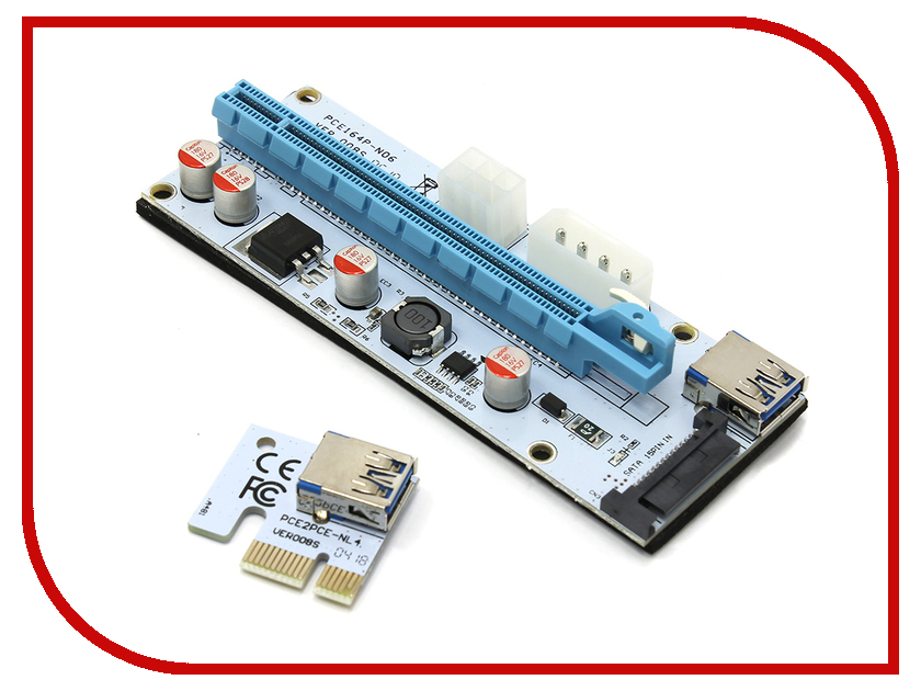 Аксессуар Адаптер Espada USB Riser Card PCI-E x1 Male to PCI-E x16 Female EPCIeKit03 для майнинга retractable usb male to micro usb male mini usb male charging data cable white 70cm