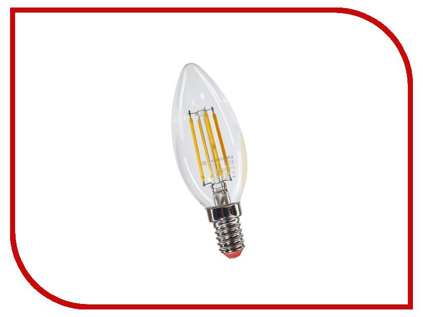 Лампочка Экономка Свеча 8W Е14 160-260V 4500К EcoLedFL8wCNE1445 лампочка экономка свеча на ветру 5w e14 230v 4500k eco led5wcwe1445