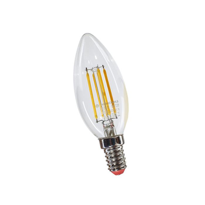 Лампочка Экономка Свеча Е14 8W 160-260V 4500К EcoLedFL8wCNE1445