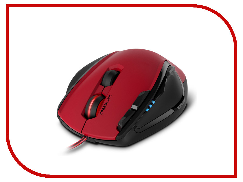 Мышь Speed-Link Scelus Black-Red SL-680004-BKRD цена и фото