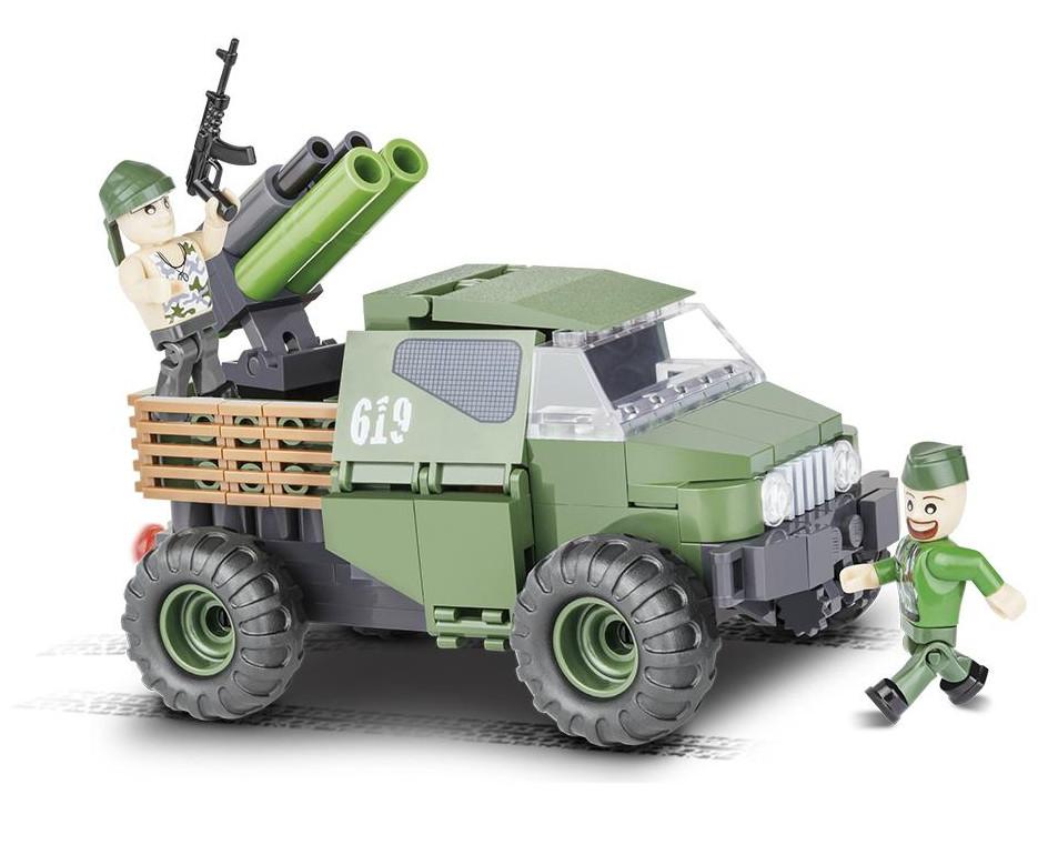 цена Конструктор Cobi Small Army Армейский бронированый пикап 150 дет. 2160 онлайн в 2017 году