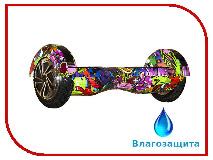 Гироскутер Asixbot Urban 8 TaoTao APP Самобалансировка + влагозащита Graffiti Purple