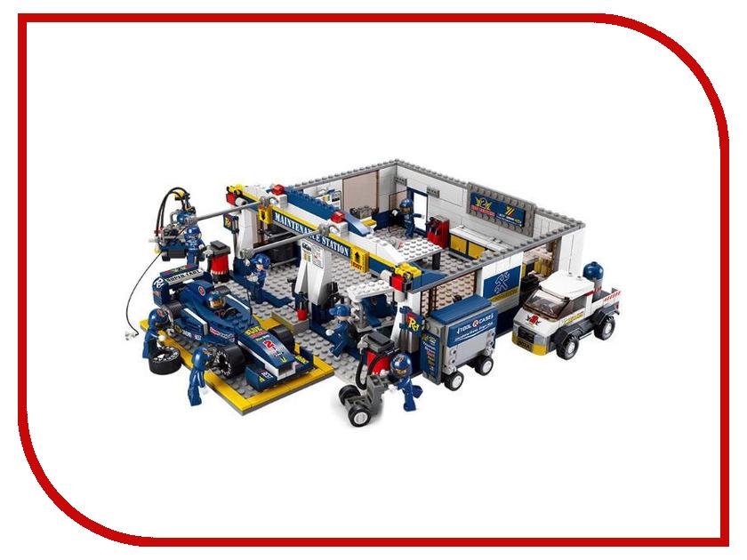 Конструктор Sluban Formula 1 Станция обслуживания 741 дет. M38-B0356 конструктор sluban трансформер 264 дет m38 b0213