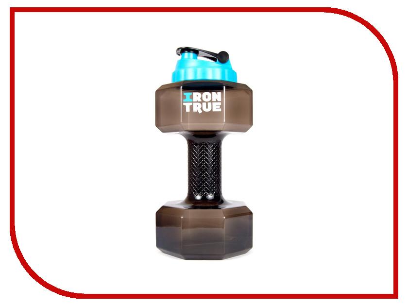 Бутылка Irontrue ITB951-2200 2.2L Black бутылка гантеля спортивная irontrue цвет зеленый 2 2 л