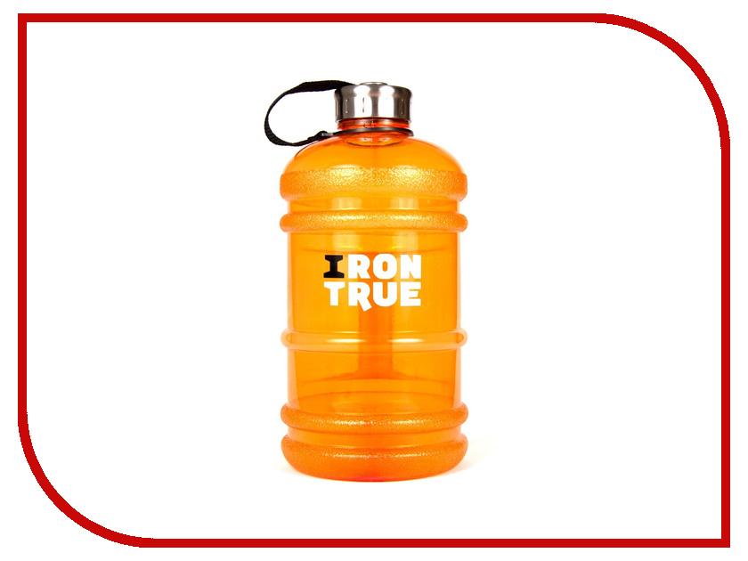 Бутылка Irontrue ITB931-2200 2.2L Orange бутылка спортивная irontrue цвет черный красный 2 2 л itb931 2200