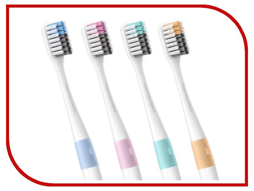 Набор зубных щеток Xiaomi Doctor B Bass Method Toothbrush 4шт насадки для электрических зубных щеток xiaomi mi electric toothbrush head 3 шт