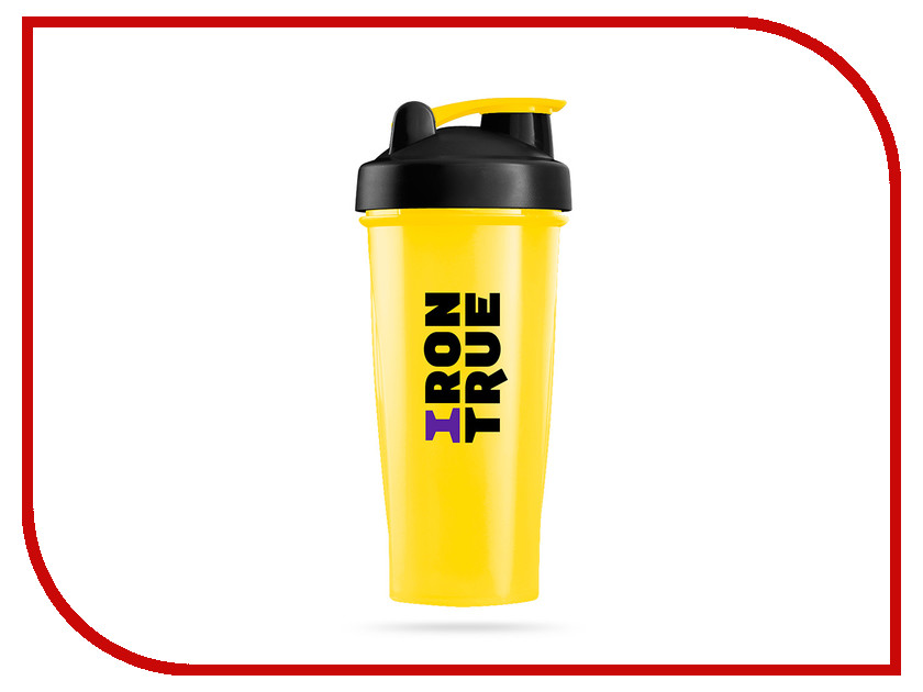 Шейкер Irontrue ITS901-600 700ml Yellow-Black-Yellow бутылка гантеля спортивная irontrue цвет зеленый 2 2 л