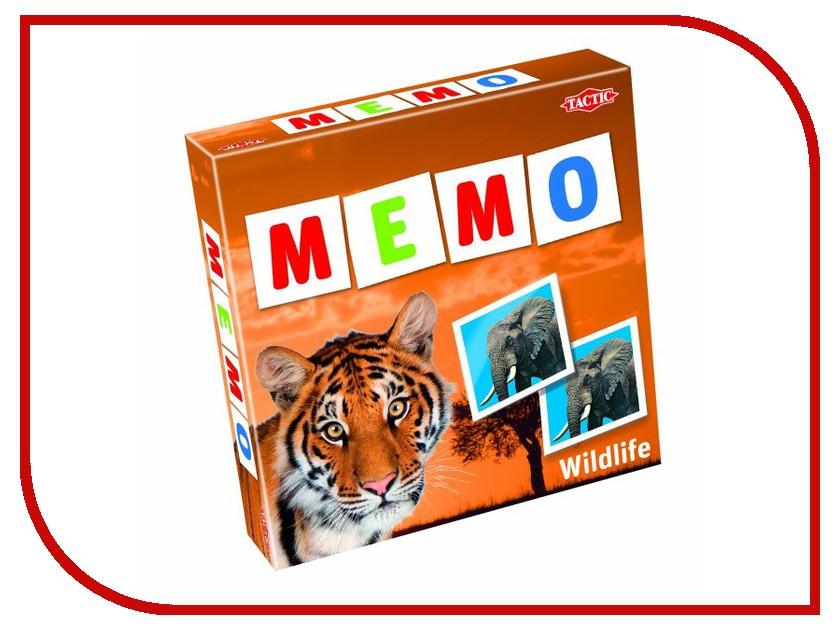 Настольная игра Tactic Мемо Дикие животные 2 41441 настольная игра tactic games дикие животные мира игра с карточками