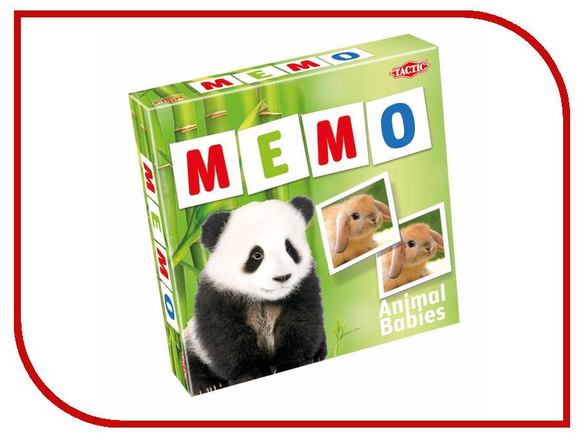 Настольная игра Tactic Мемо Зверята 2 52676 игра tactic games мемо дикие животные 2