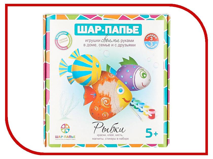 Набор Шар-Папье Магниты Рыбки В01665 бумбарам набор зайчик шар папье
