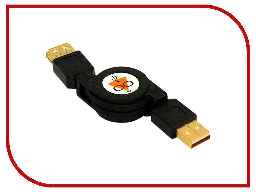 Аксессуар Konoos USB 2.0 AM-AF 0.75m Black KCR-USB2-AMAF-0.75