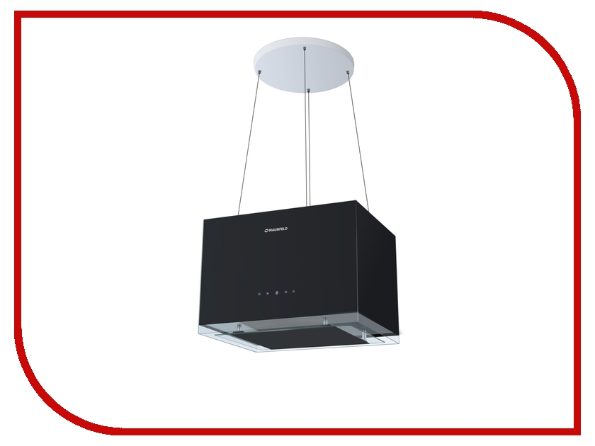 Кухонная вытяжка Maunfeld Box Rope (Isla) 50 Black вытяжка nodor isla aroa b