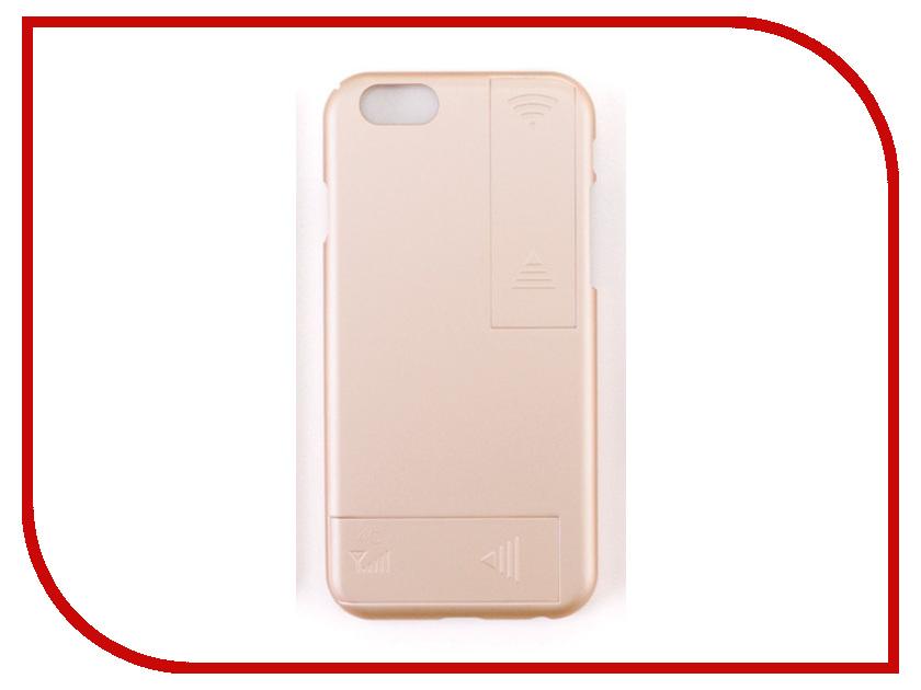 Аксессуар Чехол с антеннами Gmini для iPhone 6 Plus/6S Plus Gold GM-AC-IP6PLG 2017 чехол бампер draco 6 plus для iphone 6 plus champagne gold dr6p0a1 gdl