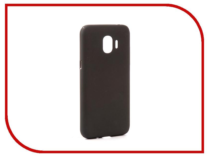 Аксессуар Чехол Samsung Galaxy J2 2018/J2 Pro 2018 DF Soft-touch sSlim-34 Charcoal Grey samsung galaxy y pro