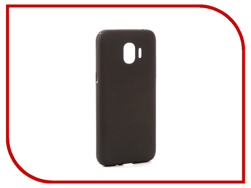 Аксессуар Чехол для Samsung Galaxy J2 2018/J2 Pro 2018 DF Soft-touch sSlim-34 Charcoal Grey