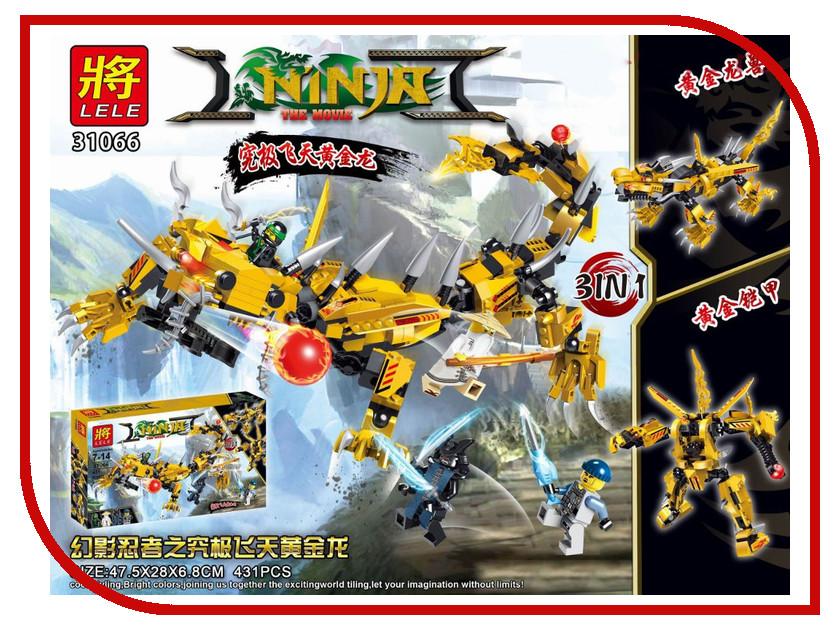 Конструктор Lele Ninja Movie Желтый робот ниндзя 31066 конструктор lele ниндзя 79340