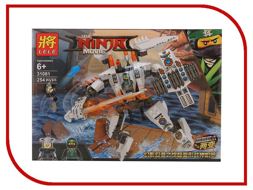 Конструктор Lele Ninja Movie Самолет и робот ниндзя 31081 конструктор lele ниндзя 79340