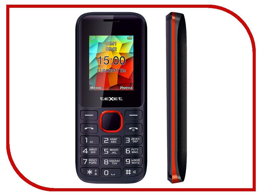 Сотовый телефон teXet TM-129 Black-Red