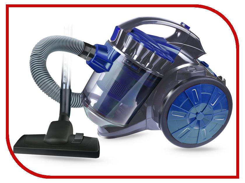 Пылесос Ginzzu VS419 Grey-Blue пылесос rolsen t 3060tsf blue