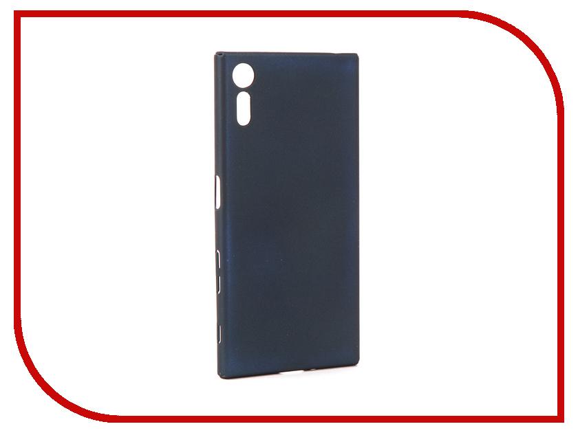Аксессуар Чехол для Sony Xperia XZ BROSCO Blue XZ-4SIDE-ST-FORESTBLUE чехол sony touch cover white для xperia xz
