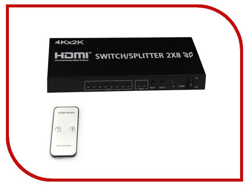 Сплиттер Orient HDMI 4K Switch Splitter 2x8 HSP0208H