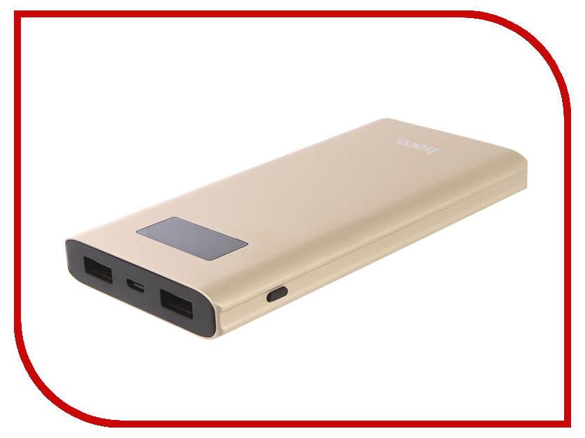 Аккумулятор HOCO B22 Charming man 10000mAh Gold аккумулятор hoco b3 led portable 15000mah white