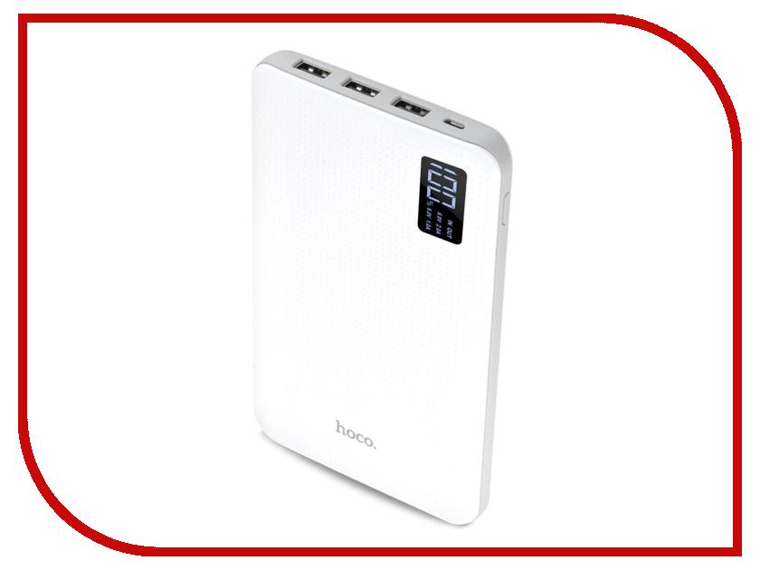 Аккумулятор HOCO B24 Pawker 30000mAh White аккумулятор hoco b31 rege 20000mah white