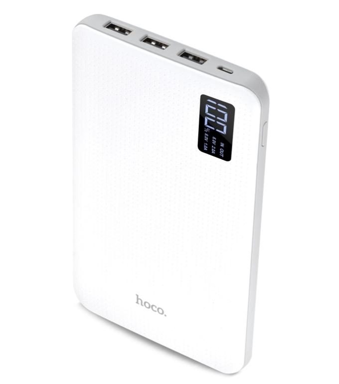 купить Внешний аккумулятор Hoco Power Bank B24 Pawker 30000mAh White дешево