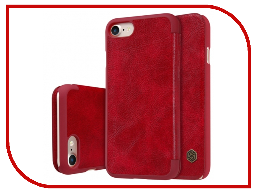 Аксессуар Чехол Nillkin Qin Leather для iPhone 7 Plus Red Q-LC AP-Iphone7 PLUS чехол книжка nillkin qin leather для apple iphone 7 plus