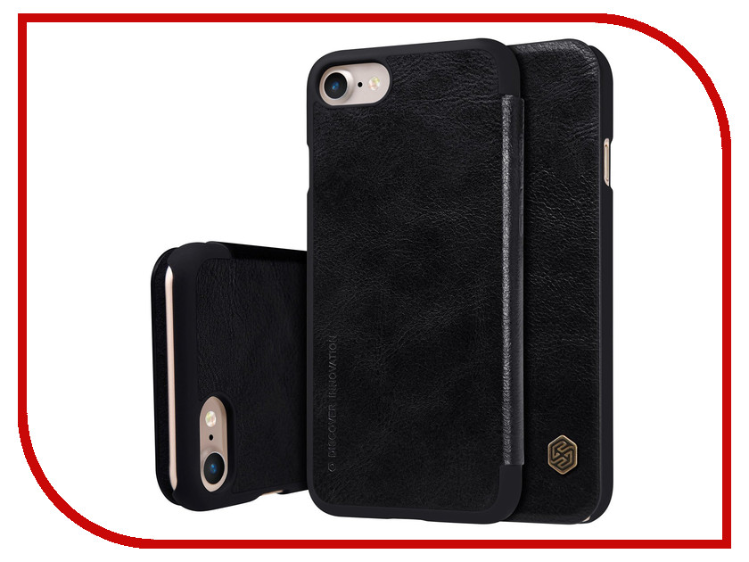 Аксессуар Чехол Nillkin Qin Leather для iPhone 7 Plus Black Q-LC AP-Iphone7 PLUS чехол книжка nillkin qin leather для apple iphone 7 plus