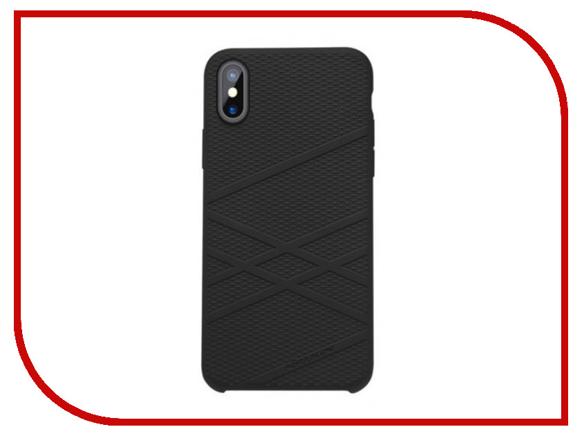 Аксессуар Чехол Nillkin Flex Case для APPLE iPhone X Black FL-HC AP-IPHONE X чехлы для телефонов nillkin бампер nillkin barde metal case для apple iphone 7