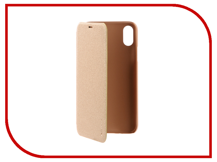 Аксессуар Чехол Nillkin Sparkle Case для APPLE iPhone X Gold SP-LC AP-IPHONE X чехлы для телефонов nillkin бампер nillkin barde metal case для apple iphone 7