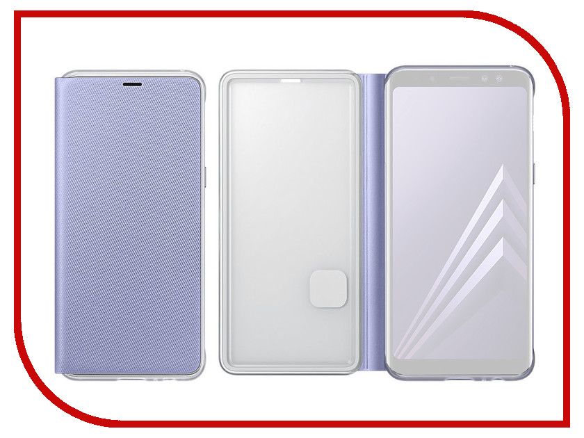 Аксессуар Чехол Samsung Galaxy A8 Plus 2018 Neon Flip Cover Purple EF-FA730PVEGRU аксессуар чехол samsung galaxy a8 plus neon flip cover blue ef fa730plegru