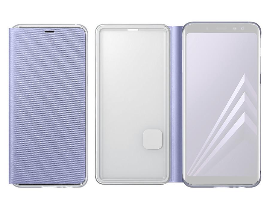 Аксессуар Чехол Samsung Galaxy A8 Plus 2018 Neon Flip Cover Purple EF-FA730PVEGRU чехол для смартфона samsung для galaxy a8 neon flip cover черный ef fa530pbegru ef fa530pbegru