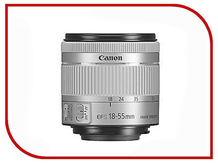 Объектив Canon EF-S 18-55 mm F/4-5.6 IS STM Silver free shipping 95%new motherboard for canon ef s 55 250 mm f 4 5 6 is ii mainboard main board camera repair parts
