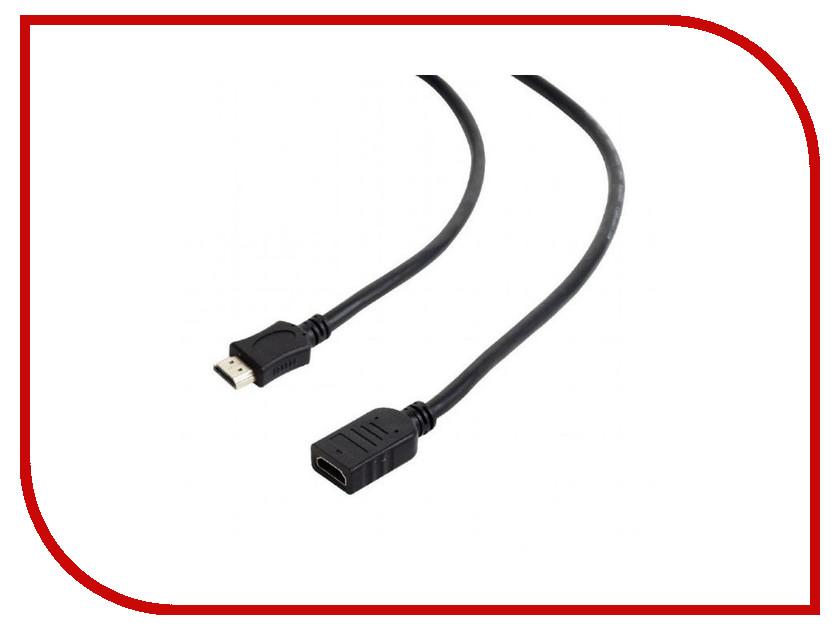 Аксессуар Gembird Cablexpert HDMI 19M/19F v2.0 3m Black CC-HDMI4X-10 аксессуар gembird cablexpert dvi d single link 19m 19m 1 8m black cc dvi bk 6