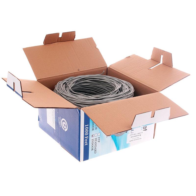Сетевой кабель SkyNet Premium UTP cat.5e 305m Grey CSP-UTP-2-CU