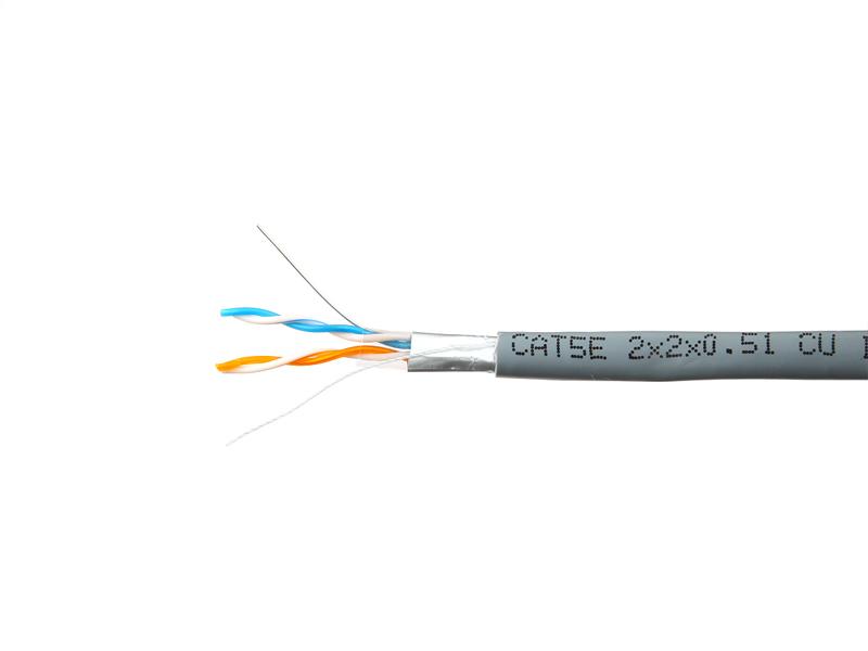 Сетевой кабель SkyNet Premium FTP cat.5e 305m Grey CSP-FTP-2-CU