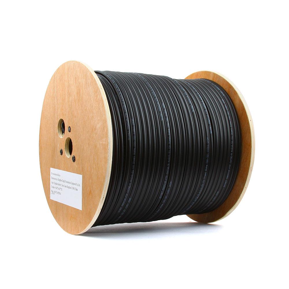 Сетевой кабель SkyNet Premium UTP cat.5e 305m Outdoor Black CSP-UTP-4-CU-OUTR